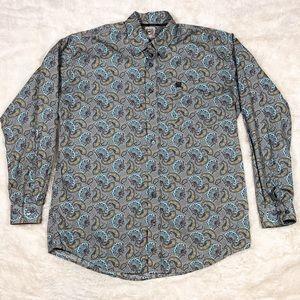 NWOT Cinch Paisley button down long sleeve shirt M
